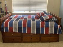 Full size captain's bed set with twin trundle in Kingwood, Texas