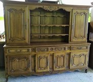 Large Antique Solid Oak China Cabinet in Ramstein, Germany