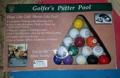 Golfer's putter pool game in Plainfield, Illinois