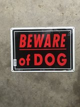Dog sign in Fort Leonard Wood, Missouri