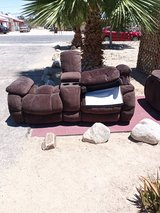 Reclining sofa and loveseat w/entertainment center in 29 Palms, California