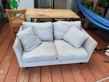 2 seater light grey nitori couch in Okinawa, Japan