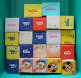 22 vintage Japanese Fanta and Coca-Cola glasses and glass mugs in Okinawa, Japan