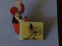 Disney Collectible Trading Pin Set: Captain Hook - Limited Edition 5000 & Tinkerbell, Set of 2 in Kingwood, Texas