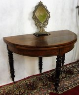 Antique French Half Moon Folding Table in Ramstein, Germany
