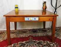 Red Pine Diningroom Table With Drawer with Tiled Face in Ramstein, Germany