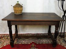 Antique Solid Wood Country Style Diningroom Table with Center bar in Ramstein, Germany