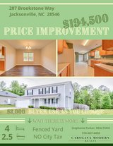 4 BED / 2.5 Bath in Brookstone (off Piney Green Road) in Camp Lejeune, North Carolina