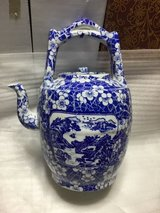 Beautiful Blue & White Lg Tea Pot in Okinawa, Japan