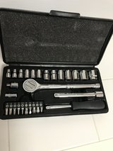 "3/8"" Socket set with 1/4"" adapter and Allen set included, great condition in Okinawa, Japan"