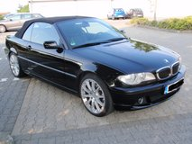 Fully loaded BMW 330 Ci convertible, Black, full Black leather interior, NEW TÜV in Spangdahlem, Germany