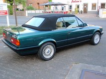 BMW 325i E30 convertible, green with beige leather everything new, US Specs in Spangdahlem, Germany