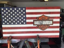 Harley Davidson Commemoration Flag in Beaufort, South Carolina