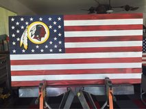 Washington Redskin Commemorative Flag in Beaufort, South Carolina