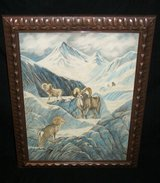 Velvet Paintings  Big Horn Sheep & Winter Village Scene in Batavia, Illinois