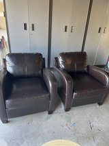 2 leather bonded chairs in Travis AFB, California