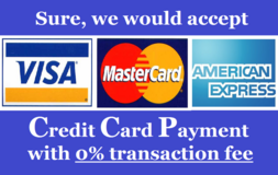CREDIT CARD PAYMENT ACCEPTED WITH 0% TRANSACTION FEE!! in Okinawa, Japan