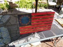 *ONE LEFT* 13 star Rustic painted Patriot Flag in Sandwich, Illinois