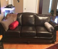 2 leather brown couches in Fort Campbell, Kentucky