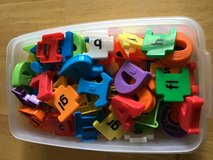 Magnetic letters and blends in Naperville, Illinois