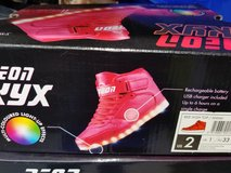 SIZE 2 RED LIGHT UP HIGHTOPS in St. Charles, Illinois