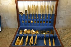 Vintage VIP Gold Plated Flatware 54 pieces in Alamogordo, New Mexico