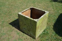 Small Square Reclaimed Galvanised Riveted Tank Planter in Lakenheath, UK