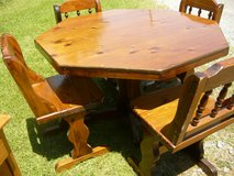 Wood Table & 4 Chairs in Fort Campbell, Kentucky