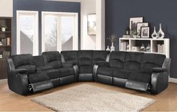 Kenia Microfiber sectional with Rocker recliner Chair in Ramstein, Germany