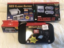 Nintendo NES and Super NES Classics with accessories Bundle in Ramstein, Germany
