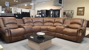 Lodge sectional with recliners , storage and drink trays in Ramstein, Germany