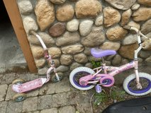 Girls toys bike and scooter in Aurora, Illinois