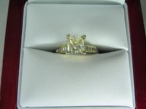 Certified 1.32ct VVS2 Clarity Princess Cut Diamond Engagement Ring in El Paso, Texas