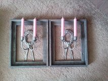 A PAIR OF RUSTIC LOOKING WALL SCONCES WITH MATCHING BRAND NEW RUSTIC FRAMES in Tinley Park, Illinois