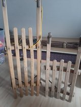 Wooden sledge big one is sold in Ramstein, Germany
