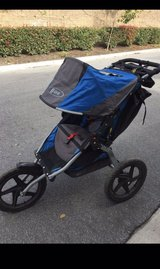 BOB 2016 Revolution FLEX Jogging Stroller- Teal and Gray-Used-Normal wear and tear in Okinawa, Japan
