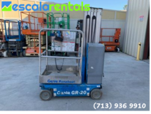 20 Ft Mast Lift for Rent in Bellaire, Texas