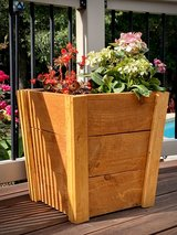 Tapered Wood Planter Boxes in Spring, Texas