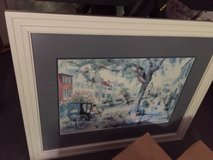 Horse & Buggy Framed Print in Beaufort, South Carolina