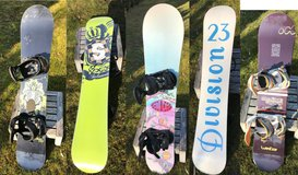 Snowboards - Salomon (145) and Division 23 (147) both with Burton Bindings, Wedtze (115) in Stuttgart, GE