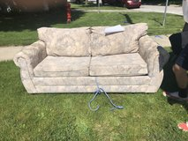 Sofa bed + all-wood twin base with storage + Love seat + coffee table in Great Lakes, Illinois