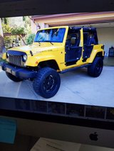 Jeep JK body armor doors and wall mounting brackets in Miramar, California