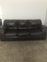 brown leather sofa in Fort Campbell, Kentucky