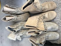 Military boots in Fort Hood, Texas