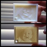 3D printed photo (lithophane) in Stuttgart, GE