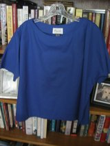 DESIGNER ROYAL BLUE BLOUSE - 100% LIGHT-WEIGHT COTTON - SIZE L in Chicago, Illinois