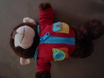 Monkey in Build a Bear jacket in Kingwood, Texas