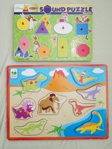 Melissa and Doug Winnie the Pooh Wooden Sound Puzzle/Dinosaur Board Puzzle in Fort Campbell, Kentucky