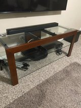 Glass TV Stand w/TV Holder in Kingwood, Texas