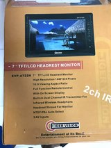 """2 New Headrest 7"""" tv monitor ,new for car or van in Okinawa, Japan"""